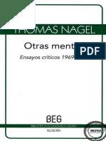 NAGEL, Thomas, Otras Mentes - Ensayos Criticos [1969 - 1994]