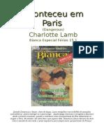 Charlotte Lamb - Aconteceu Em Paris (Bianca Esp Ferias 15.2)