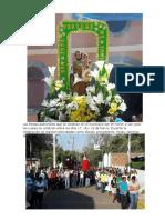 Las Fiestas Patronales Que Se Celebran en El Municipio  en Honor a San José