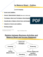 Topic 2- The Balance Sheet