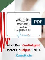 List of Best Heart Specialist Doctors in Jaipur – 2016