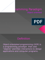 Programming Paradigm- Object Orientated