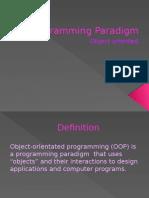 Programming Paradigm- Object Orientated