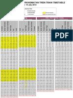 New KLIA Transit Peak Timetable Update 160714