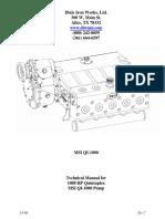 Manual 1000 HP Quintuplex MSI QI 1000 Pump
