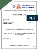 Project Interpretation of Statutes