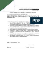 Declaración del Imputado Daniel Muñoz Retuerto CASO N° 2011-330