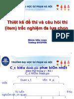 Thiet Ke de Thi Va Cau Hoi Thi Trac Nghiem KQ (2014)