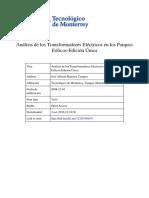 Analisis Transformadores Electricos en Los Parques Industriales