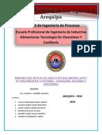 Resumen Del Manual de Aplicación Del Sistema Appcc en Industrias de Confitería