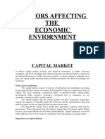 Facors Affecting Economic Enviornment