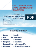 74 Years Old Woman With Anteroseptal Old Myocard Infarction FK UNS