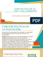 La Funcion Politica de La Educación y Sus Elementos Expo