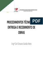 Procedimentos Técnicos de Entrega e Recebimento de Obras - Ibape