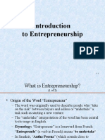 1. Introduction to Entrepreneurship