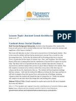 greek architecture lesson