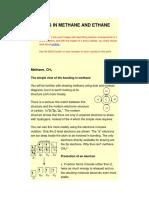 Bonding in Methane and Ethane