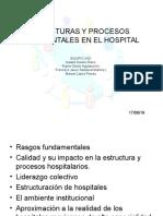 Estructuras y Procesos Fundamentales en El Hospital