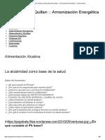 Alimentación Alcalina _ Armonización Energética __ Dieta Alcalina