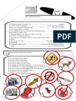 6778 Grammar and Vocabulary Exercises for Students of Tourism Industry 3 Pages Plus Answer Key