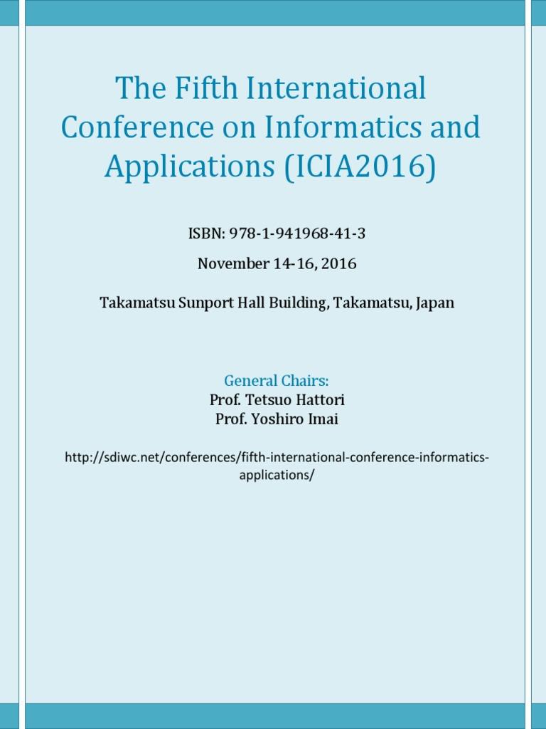 Icia2016 Full PDF | Hdmi | Mobile Device