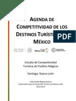 Agenda de competitividad de Destino Turístico, Santiago, Nuevo León, Pueblos Mágicos.