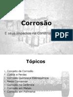 Corrosão e seus impactos na Construção Civil
