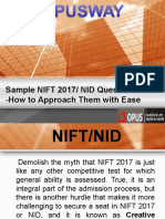 Sample NIFT 2017 NID Questions -How to Approach Them With Ease