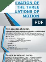 Three Equations of Motion