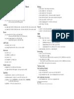 Network Sheet