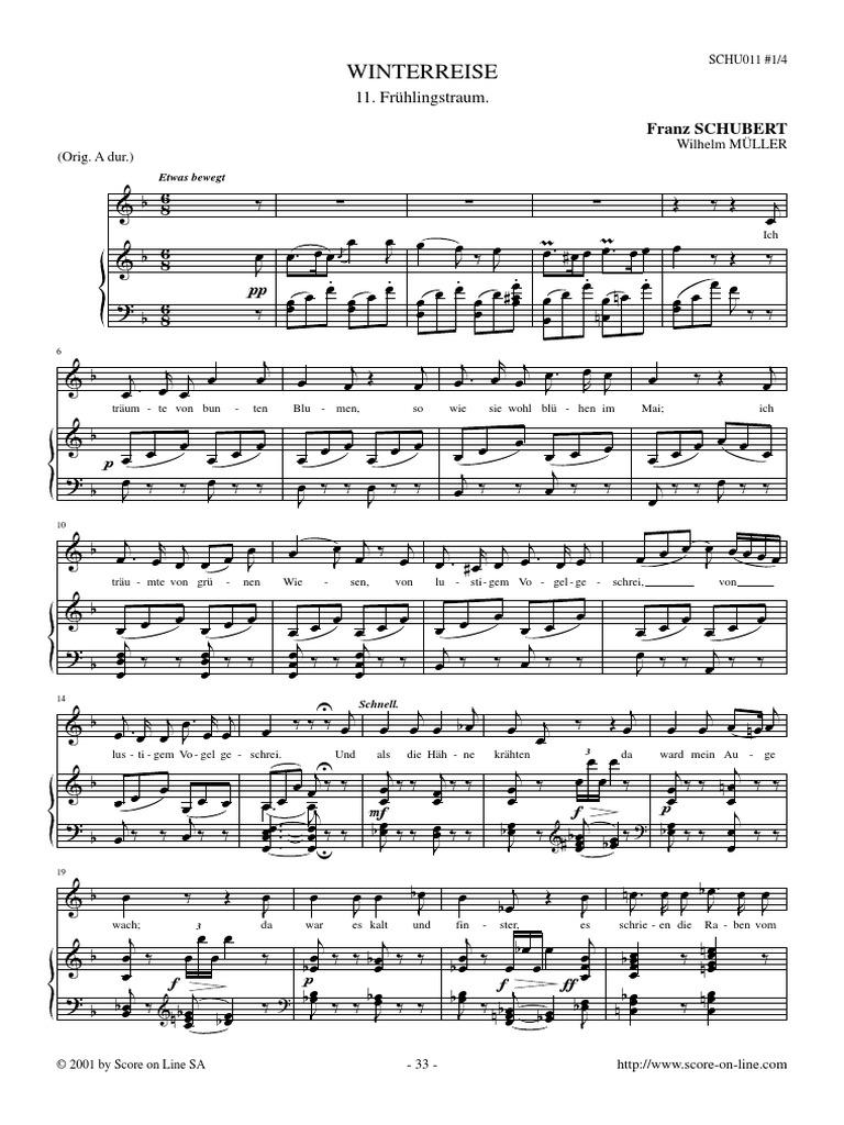 Schubert Frühlingstraum
