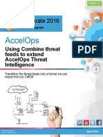 Accelerate 2016 Combine Threat Intelligence 2