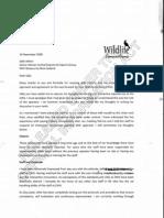 Glen Holland Letter 16 11 08
