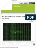 80+ Best Free Hacking Tutorials _ Resources to Become Pro Hacker _ FromDev