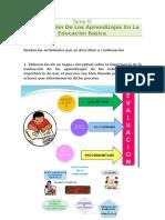 Taera III La Evaluación de Los Aprendizajes en La Educación Basica