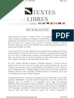 Alain FOURNIER - Biographie
