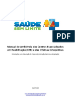 Manual de Ambiência Dos Centros Especializados Em Reabilitação (CER) e Das Oficinas Ortopédicas