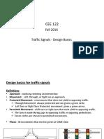 Lecture 7A Traffic Signal DESIGN Basics (1)