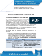 Requisitos e Interpretacion de La Norma ISO 90012008