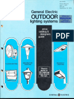 GE Lighting Systems Price Book - Outdoor Designers Guide 4-79 - 9-79