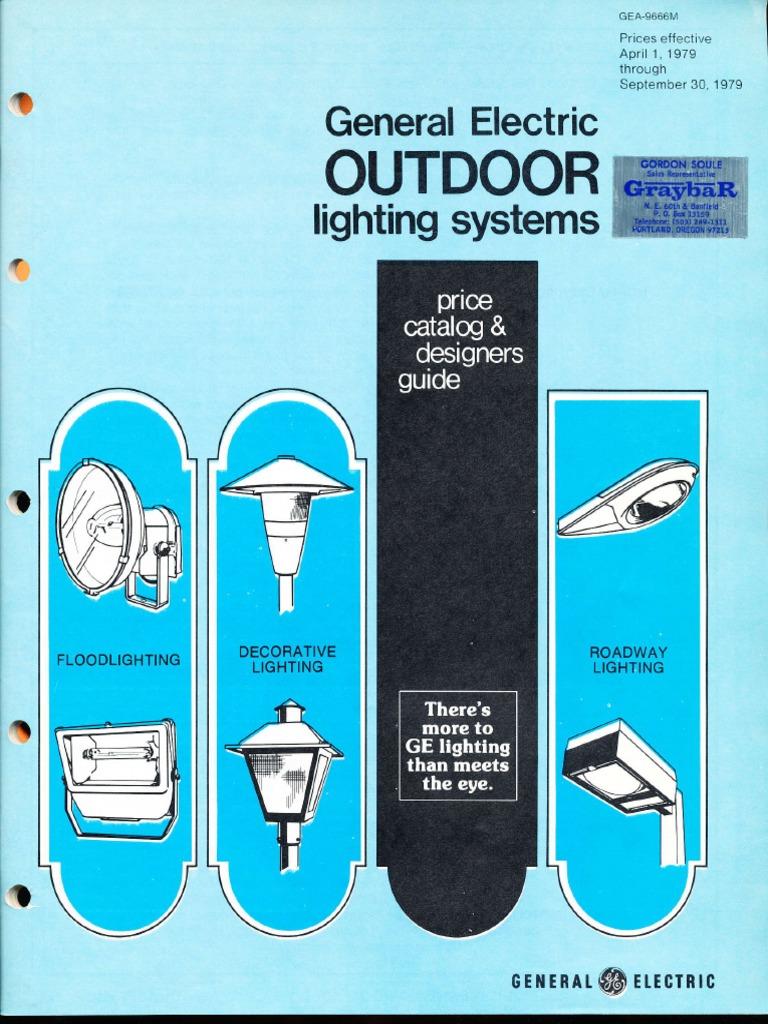 ge lighting systems price book outdoor designers guide 4 79 9 79 rh scribd com