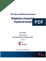 Planeamiento y Evaluación de Proyectos de Inversión