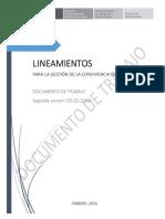 Lineamientos de Convivencia Escolar - 2da VERSION - 03-02-16