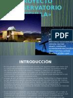 Taller de Emprendimiento - Observatorio Astronomico