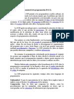 Contexto Fundamental de La Programación P.O.O