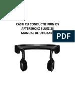Aftershokz Bluez 2S _manual de Utilizare