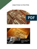 Converting an Inkjet Printer to Print PCBs