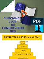 Funciones Club Conquistadores