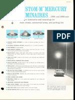 GE Lighting Systems Custom-M Mercury Luminaires Spec Sheet 1963
