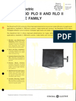 GE Lighting Systems Decaflood PLO II & RLO II Series Spec Sheet 9-80